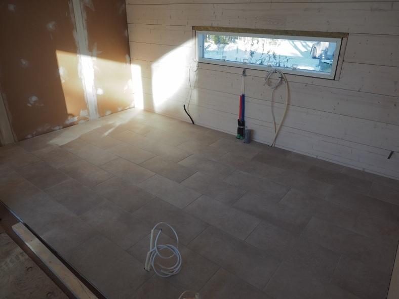 Tyhjä keittiön lattia